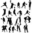 Basket ball silhouettes vector image