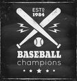 baseball chalk vector image
