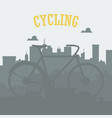 bicycle concept bicycle in the city urban vector image