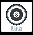 billiard sport design vector image