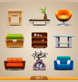 Furniture icons-set 7 vector image