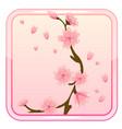 game icon with sakura flower vector image