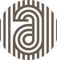 letter line alphabet design vector image
