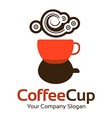 Logo template Abstract coffee business corporate vector image