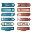 Retro cardboard infographics options vector image