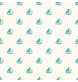 Seamless nautical pattern with small blue boats vector image