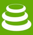 stack of basalt balancing stones icon green vector image