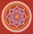 Orange color mandala vector image