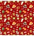 Christmas food pattern vector image