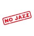 No Jazz Rubber Stamp vector image
