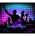 dancing party people vector image