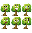 Trees with face vector image vector image