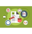 Office tools objects for infographic vector image
