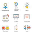 Career progress and business management - 5 vector image