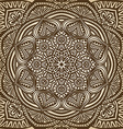 Mandala ornament brown circular pattern background vector image