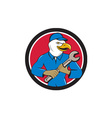 American Bald Eagle Mechanic Spanner Circle vector image