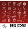 barbecue outline icons vector image