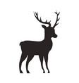 christmas deer animal horned decoration vector image