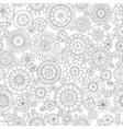 Ethnic floral mandalas doodle background circles vector image