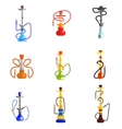 Hookah Icons vector image