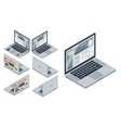 isometric laptop vector image