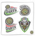Set icons for darts game vector image