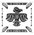 Tribal indian eagle tattoo vector image