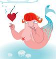 Underwater love vector image