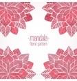 Watercolor pink lace floral patterns on white vector image