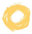 Yellow brushstroke circle form vector image
