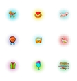 Mothers day icons set pop-art style vector image