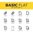 Basic set of file icons vector image