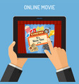 online movie concept vector image