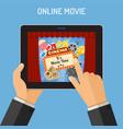 online movie concept vector image vector image