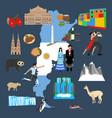 argentina travel vector image