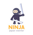 ninja holding swords in hands in flat style vector image
