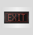 Led lights exit sign vector image
