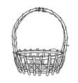 Wicker Basket outline vector image