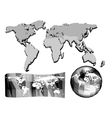 set of abstract world map vector image