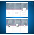 brochure folder leaflet computer technology vector image vector image