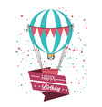Air balloon over white background vector image