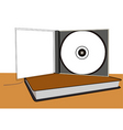 cd and book vector image vector image