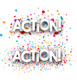 Action paper banners vector image