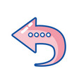 arrow symbol icon mobile sign vector image
