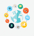 communications concept - infographic design vector image