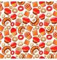 Doodle BakeryCakes and dessertpastries vector image