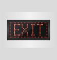 Led lights exit sign vector image