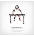 people sports gymnastics vector image