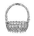 Wicker Basket outline vector image