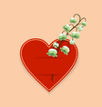 Heart and flower vector image vector image